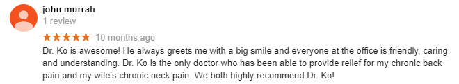 John 120 Acupuncture Google Review